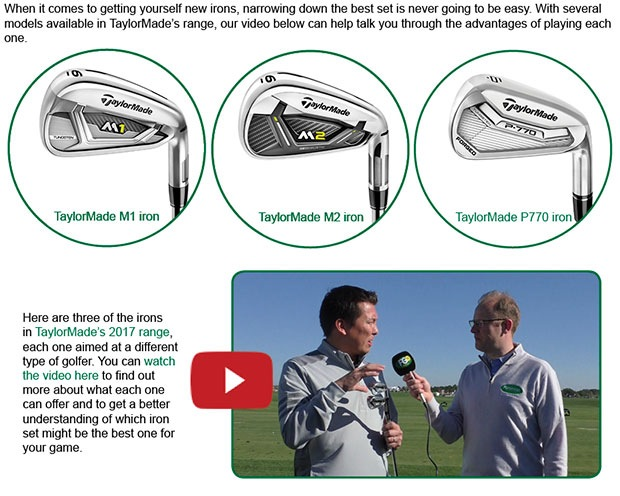 TaylorMade Irons Article