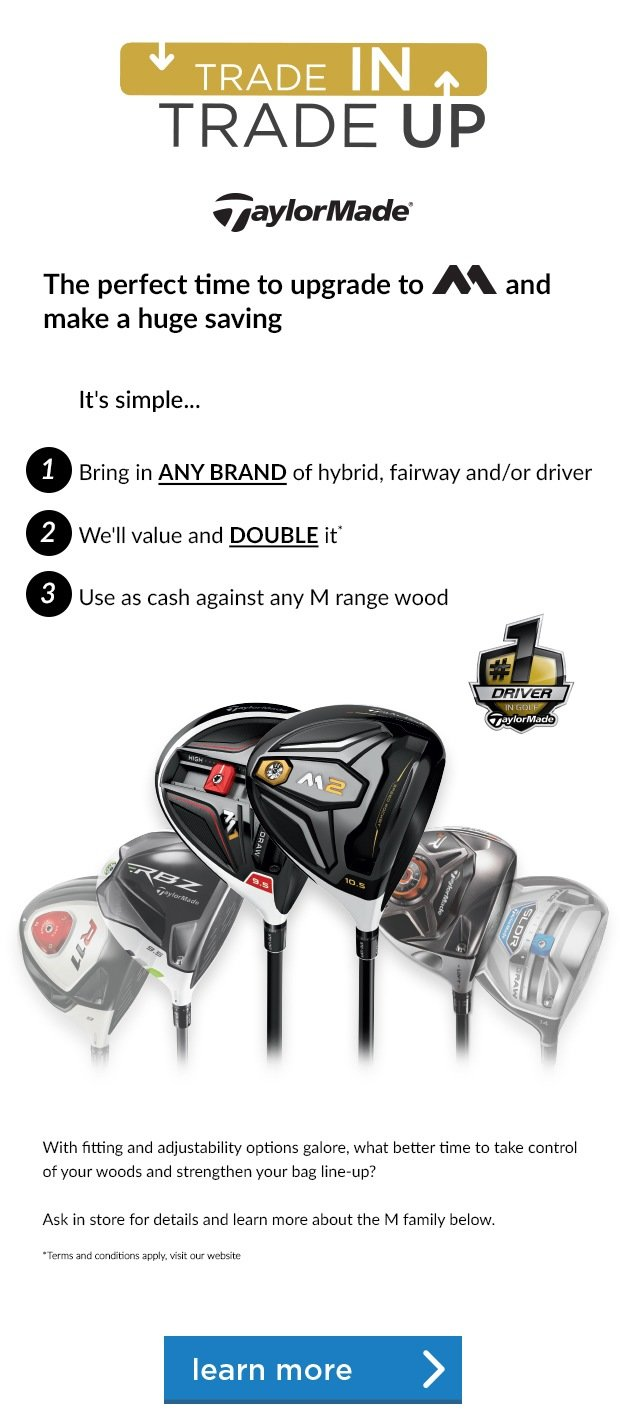 TaylorMade Trade In, Trade Up